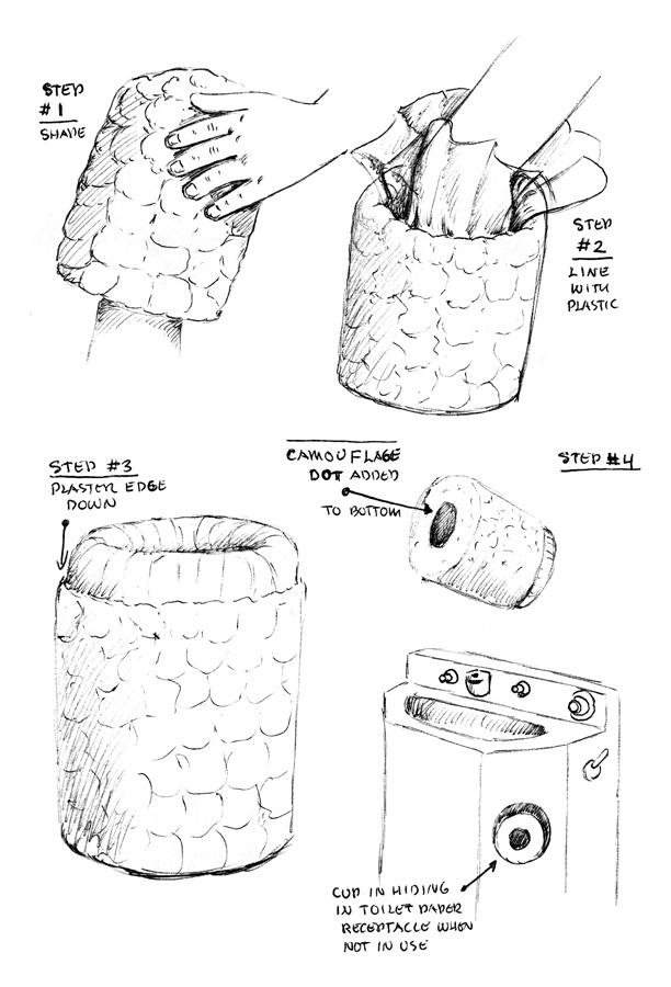 Toilet Paper Mache Cup