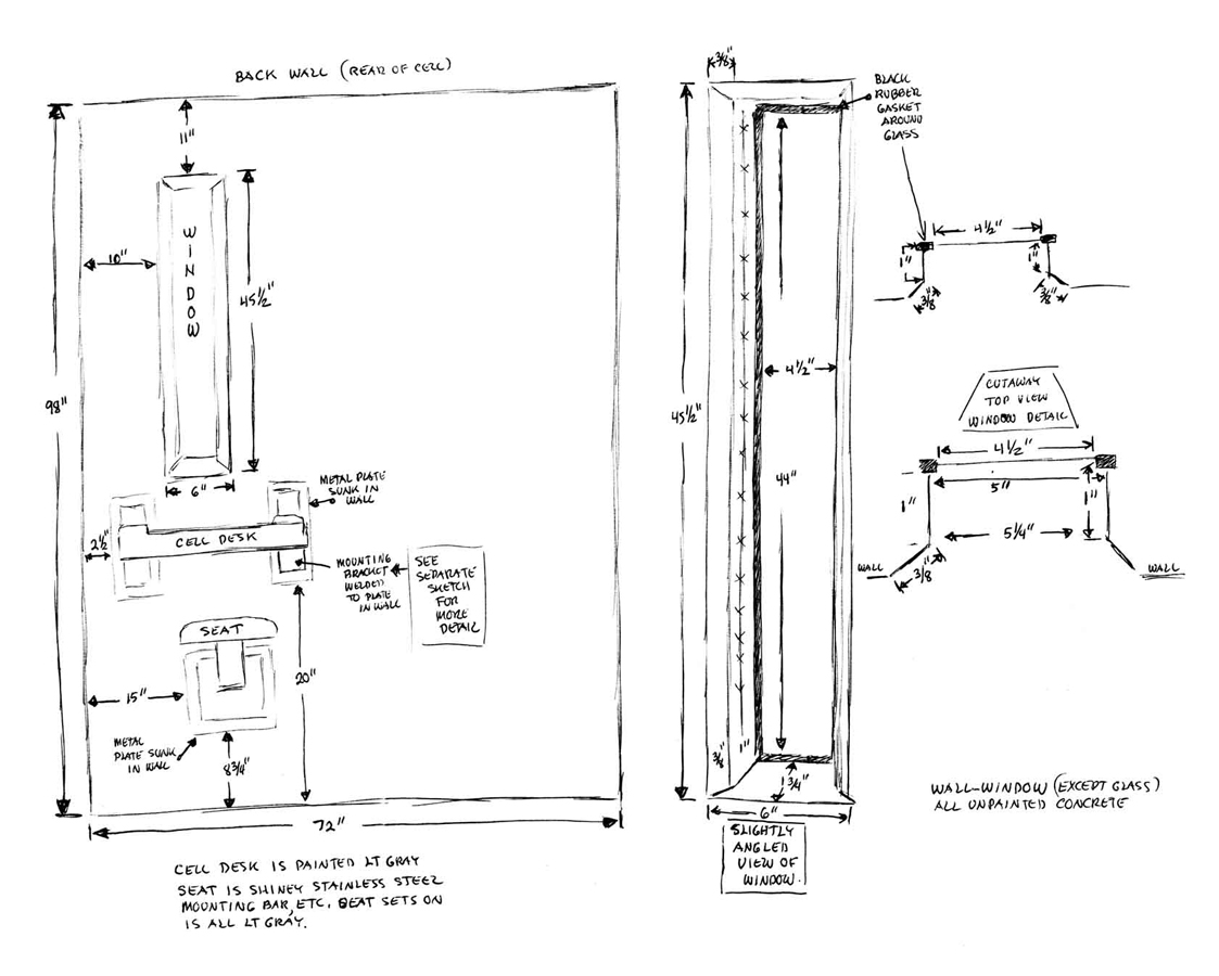 Drawings of the prison cell temporary services prisoners inventions pages ccuart Images