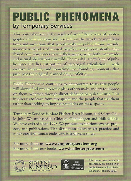 Public Phenomena booklet