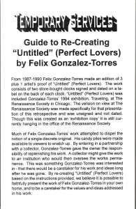 "10. Guide to Re-Creating ""Untitled (Perfect Lovers)"" by Felix Gonzalez-Torres, February 2000."
