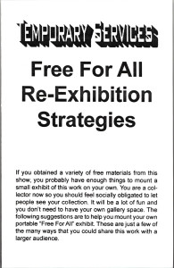 13. FFA Re-exhibition Strategies, February 2000.