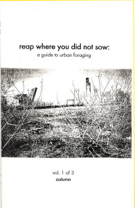 40. Reap Where You Did Not Sow: A Guide to Urban Foraging, Vol. 1 of 3, Autumn, by Nance Klehm, October 2001.