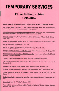 70. Three Bibliographies: 1999-2006, March 2006.