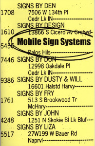5. Mobile Sign Systems: A Temporary Public Art Project, June 1999.