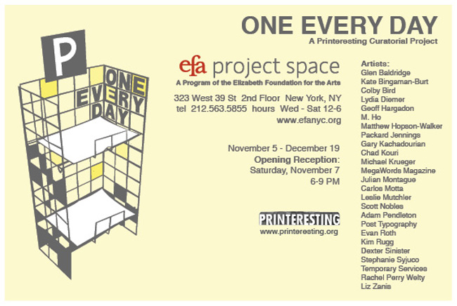 EFA Project Space | Temporary Services