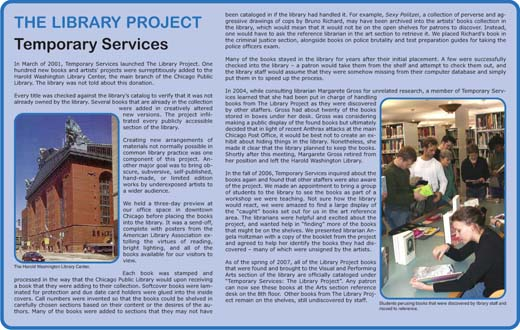 Temporary Services | The Library Project