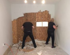 Demolition day at Compound Yellow